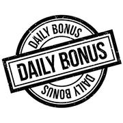 Daily Bonus rubber stamp Stock Illustration