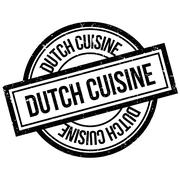 Dutch Cuisine rubber stamp Stock Illustration