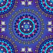 Silvery and violet-blue seamless pattern Stock Illustration