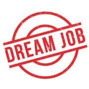 Dream Job rubber stamp Stock Illustration