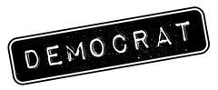 Democrat rubber stamp Stock Illustration