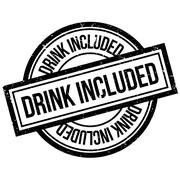 Drink Included rubber stamp Stock Illustration
