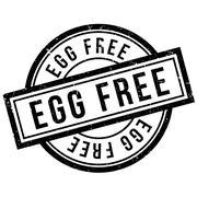 Egg Free rubber stamp Stock Illustration