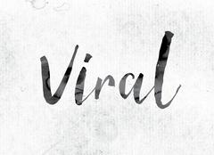 Viral Concept Painted in Ink Stock Illustration
