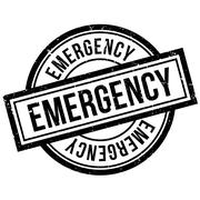 Emergency rubber stamp Stock Illustration