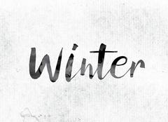 Winter Concept Painted in Ink Piirros