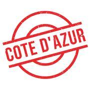 Cote D'Azur rubber stamp Stock Illustration