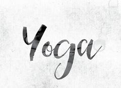 Yoga Concept Painted in Ink Stock Illustration