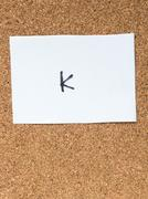 The series of a message on the cork board, k Stock Photos