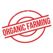 Organic farming rubber stamp Piirros