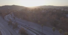 Floating Above The Arroyo Seco Parkway Stock Footage
