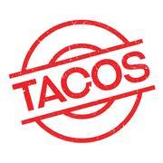 Tacos rubber stamp Stock Illustration