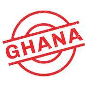 Ghana rubber stamp Stock Illustration