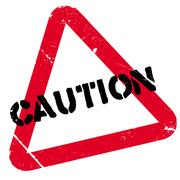 Caution stamp Stock Illustration