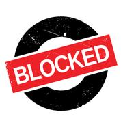 Blocked rubber stamp Stock Illustration