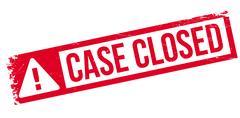 Case closed stamp Stock Illustration