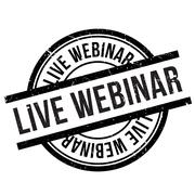 Live webinar stamp Stock Illustration