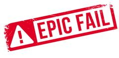 Epic fail rubber stamp Stock Illustration