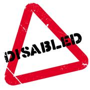 Disabled stamp Stock Illustration