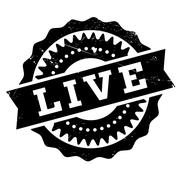Live stamp Stock Illustration