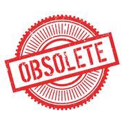 Obsolete stamp Stock Illustration