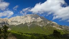 Tahtali mountain, also known as Lycian Olympus, Turkey. Time lapse, 4K Stock Footage
