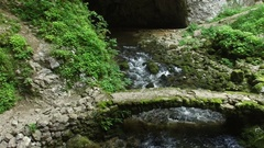 River Running Through Cave Stock Footage