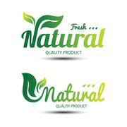 Nature label Stock Illustration