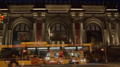 MET Museum Timelapse Zoom Out Night with New York City Traffic Stock Footage