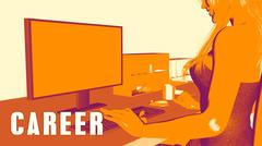 Career Concept Course Stock Illustration
