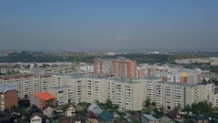 Top view of big city with block of flats outdoors in good day Stock Footage