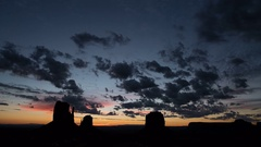8K Monument Valley Sunrise Time Lapse of Autumn Sky Stock Footage
