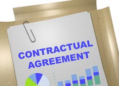 Contractual Agreement - business concept Stock Illustration