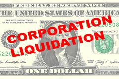 Corporation Liquidation concept Stock Illustration