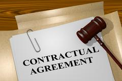 Contractual Agreement - legal concept Stock Illustration