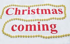 Christmas coming drawing on white Stock Photos