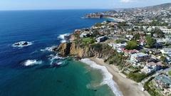 4K Beautiful Laguna Beach Stock Footage
