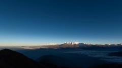 Timelapse - First light at sunrise at the annapurna range - himalaya Stock Footage