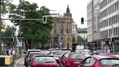 4K Timelapse busy traffic large avenue Munich vehicle transportation commuting  Stock Footage