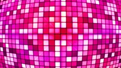 Broadcast Twinkling Hi-Tech Cubes Globe, Pink, Abstract, Loopable, 4K Stock Footage