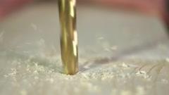 Work gloves drills wood bar Stock Footage