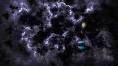 Universe with planets. Animated abstraction of milky way and outer space Stock Footage