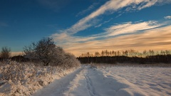 Winter snowy landscape with lot of snow Stock Footage
