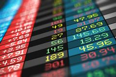 Stock exchange market trade data Stock Illustration