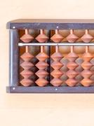 Japanese abacus called Soroban Stock Photos