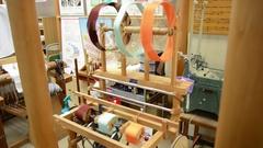 Silk Loom Japan Stock Footage