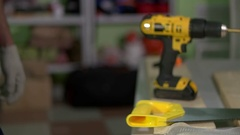 Work preparing a tool to work Stock Footage