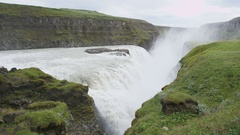 Waterfall Dettifoss on Iceland Stock Footage