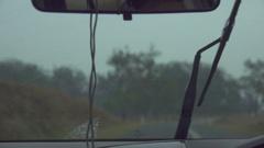 Windscreen Wiper, Slow Motion Stock Footage