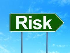 Business concept: Risk on road sign background Stock Illustration